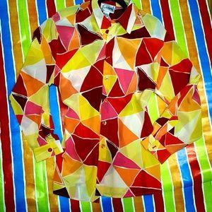 Diane Von Furstenberg silk button up blouse